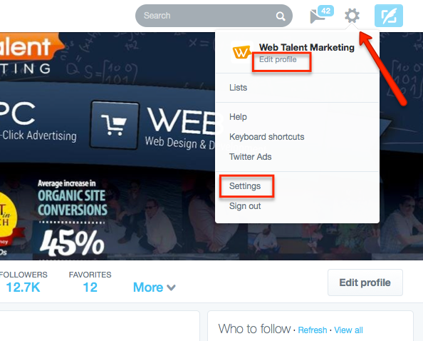 how to set up a twitter profile